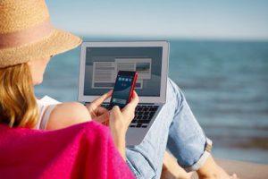 Ihr Marketing ist überall verfügbar. Ob Tablet oder Smartphone - Sie sind im Urlaub dabei!